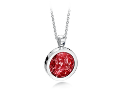 Round Pendant Silver Ruby