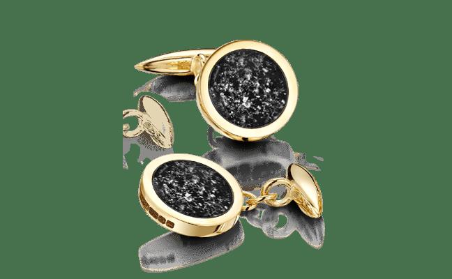 Cufflink Gold Black