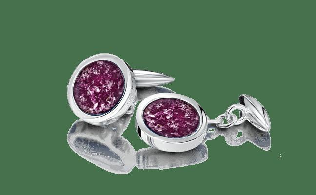 Cufflink Silver Purple