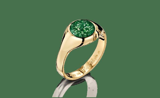 Signet Gold Green