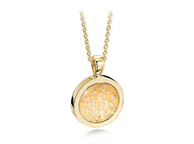 Round Pendant Gold Clear