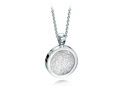 Round Pendant White Gold Clear
