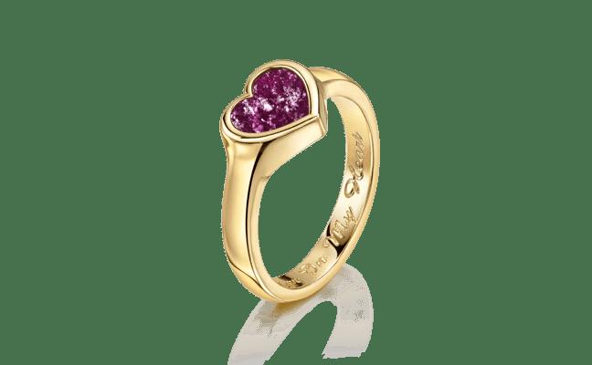 Heart Gold Purple