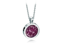 Round Pendant White Gold Purple
