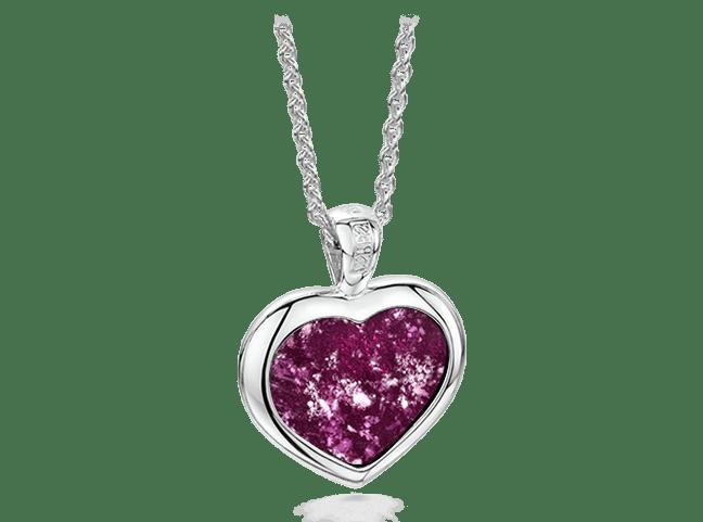 Heart Pendant Silver Purple