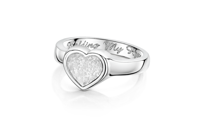 Heart White Gold Clear