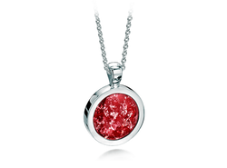 Round Pendant White Gold Ruby