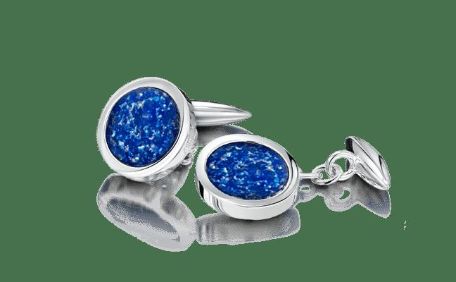 Cufflink Silver Blue