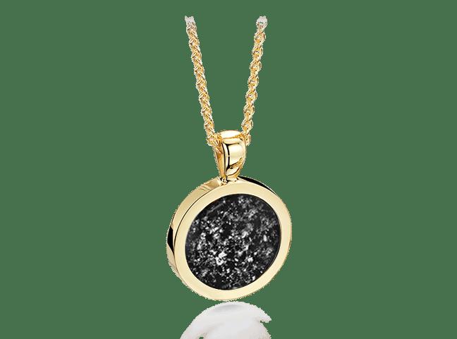 Round Pendant Gold Black