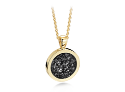 Round Pendant Gold Black