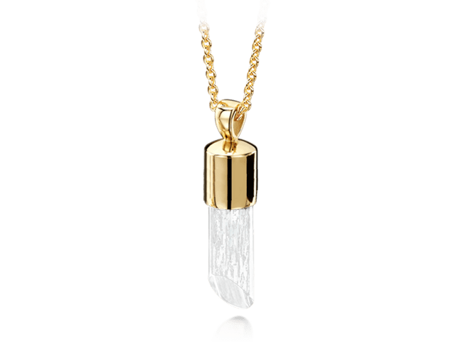 Long Pendant Gold Clear