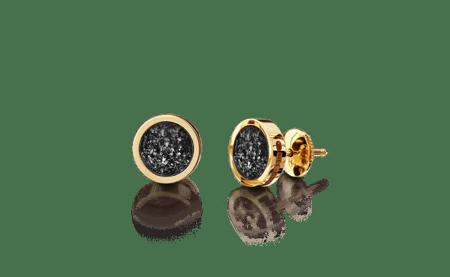 Earring Gold Black