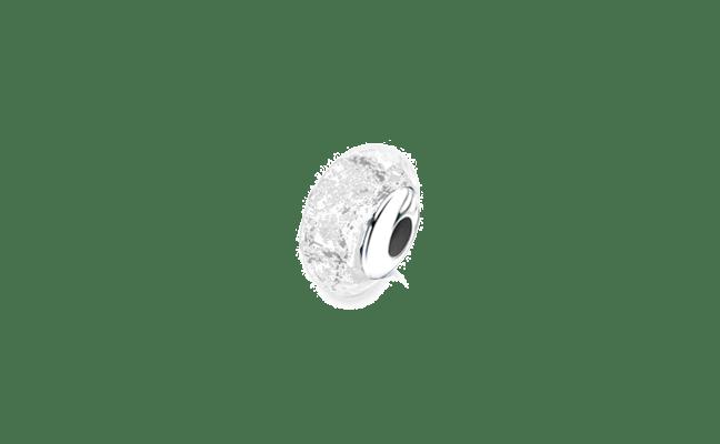 Charm Bead Silver Clear