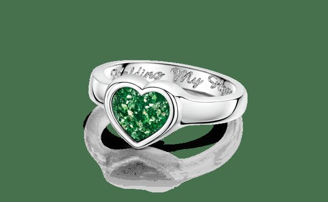 Heart Silver Green