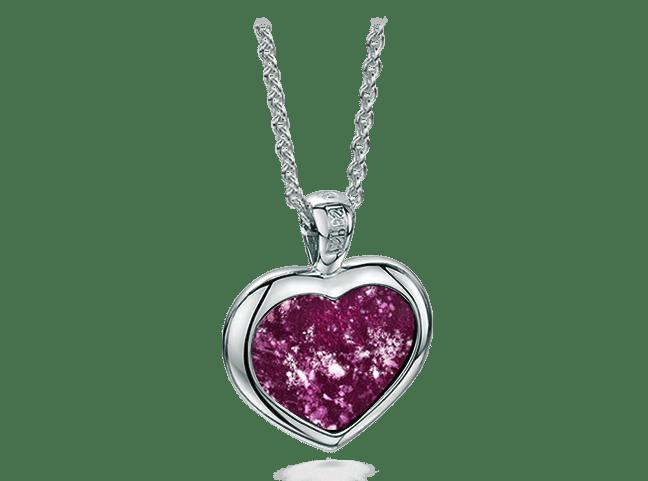 Heart Pendant White Gold Purple