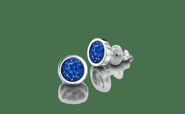 Earring Silver Blue