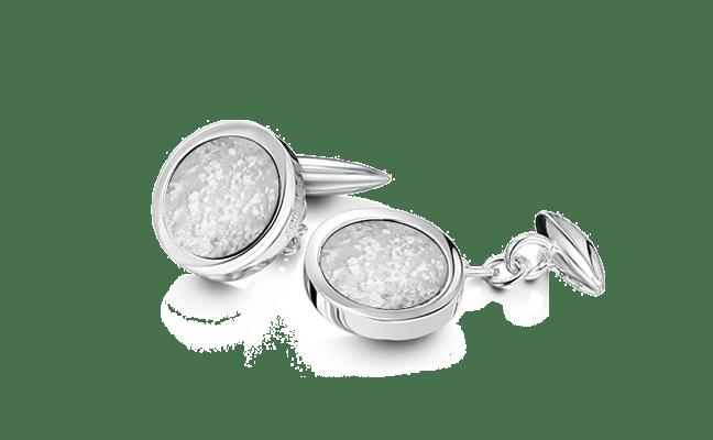 Cufflink Silver Clear