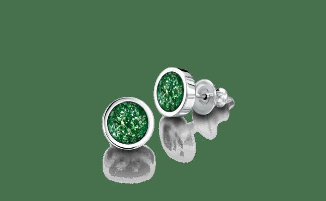 Earring Silver Green