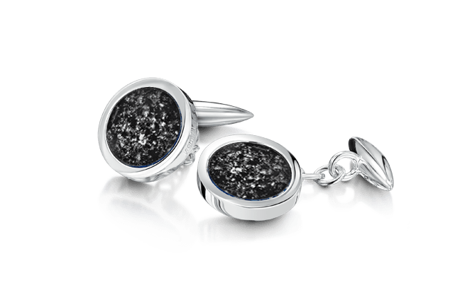 Cufflink Silver Black