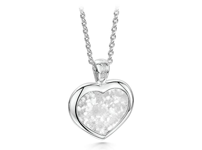 Heart Pendant Silver Clear