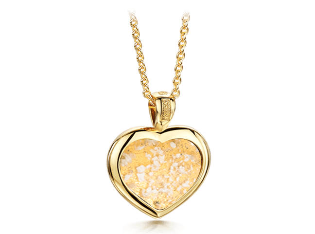 Heart Pendant Gold Clear