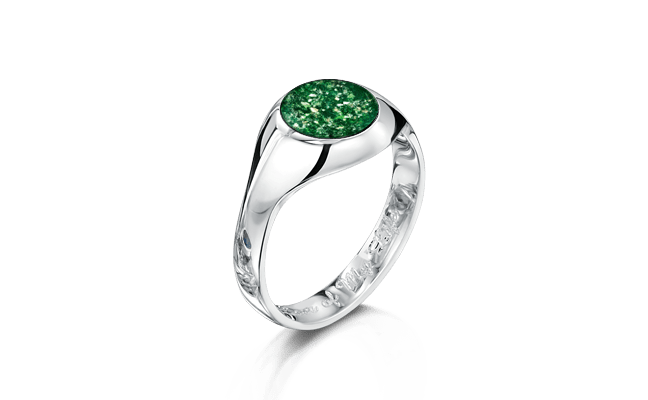 Signet Silver Green