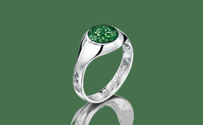 Signet Silver Green