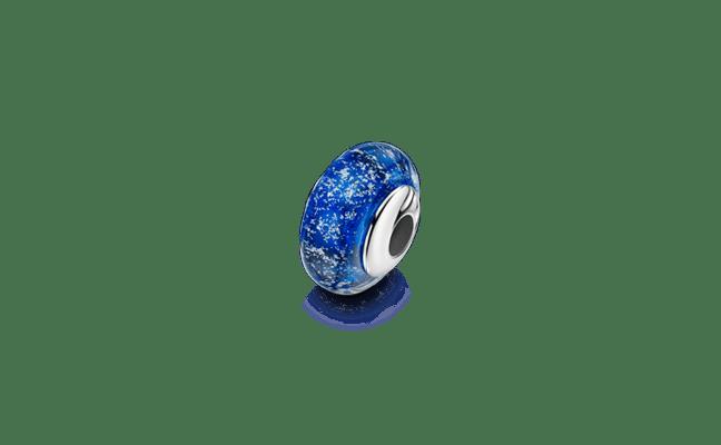 Charm Bead Silver Blue