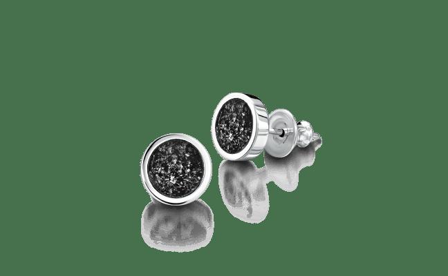 Earring Silver Black