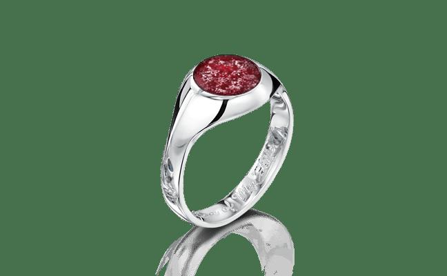 Signet White Gold Ruby