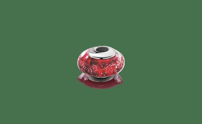 Charm Bead Silver Ruby