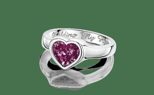 Heart Silver Purple