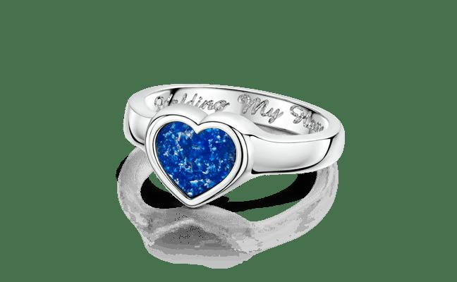 Heart Silver Blue