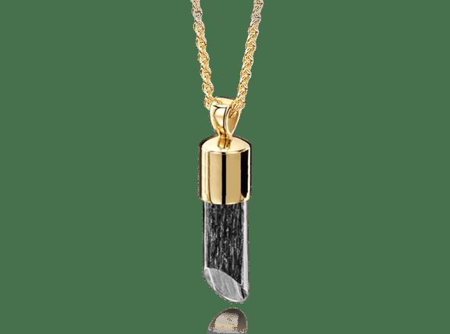 Long Pendant Gold Black