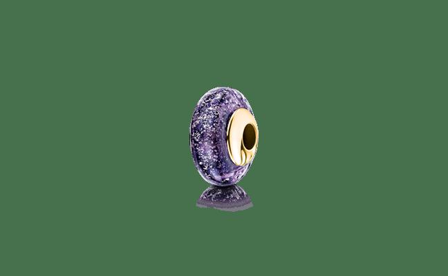Charm Bead Gold Purple