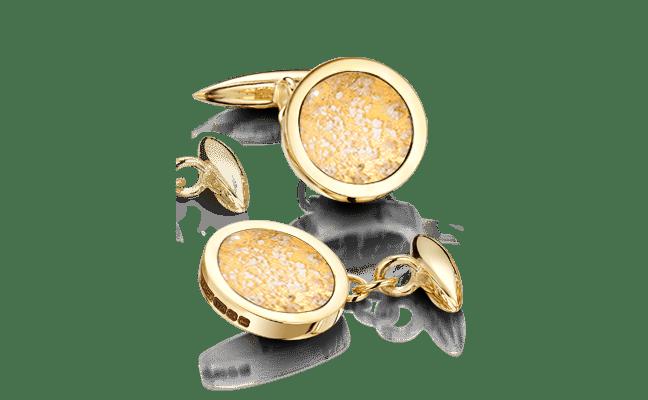 Cufflink Gold Clear