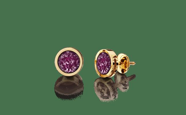 Earring Gold Purple