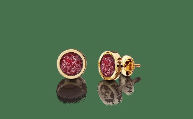 Earring Gold Ruby