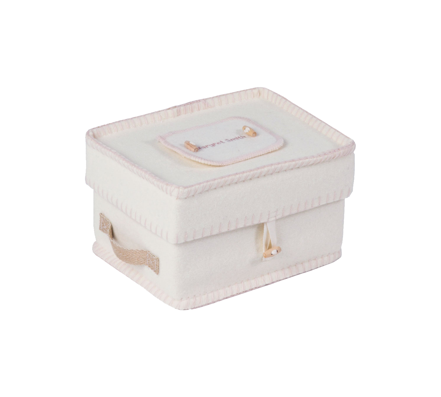 Natural White Woolen Casket