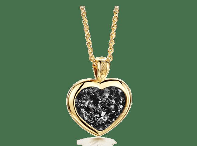 Heart Pendant Gold Black