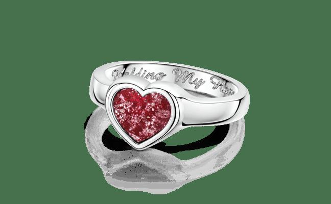 Heart White Gold Ruby