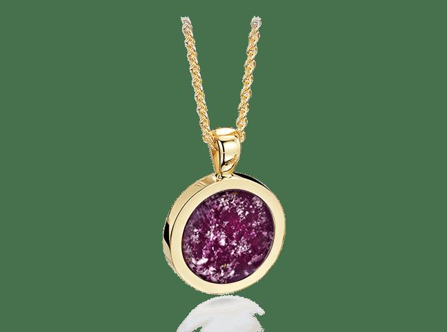 Round Pendant Gold Purple