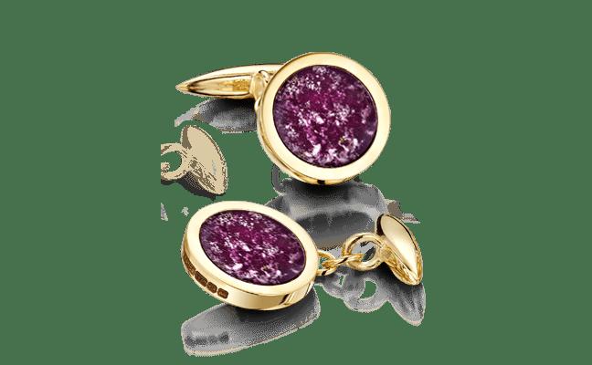 Cufflink Gold Purple