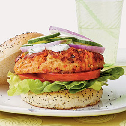Hambúrguer Gourmet de Salmão