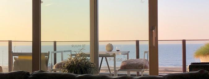 Uniek zicht op strand en zee.