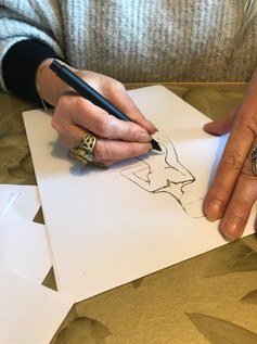 Leren design schetsen by Hillenius Couture