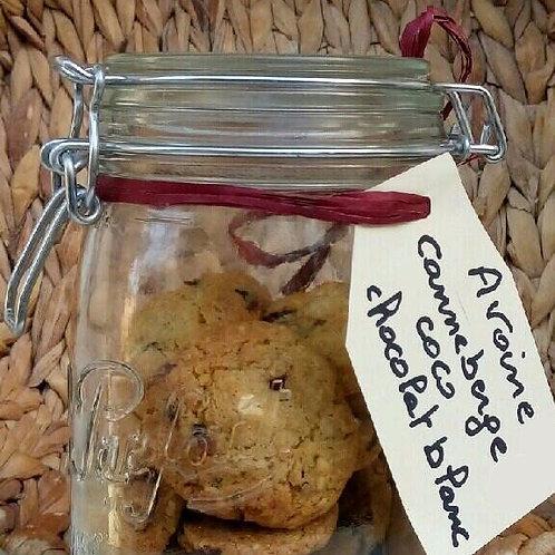 Cookie noix de coco - cranberries - chocolat blanc (lot de 3)