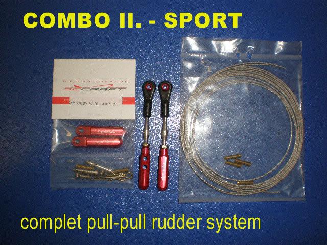 Rudder Pull-Pull set SPORT