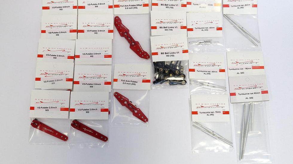 SECRAFT kit SU37 for Futaba servos
