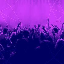 purpurowy Crowd